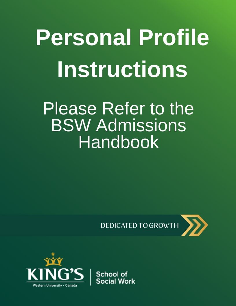 Personal Profile Form Instructions (King's / UWO)