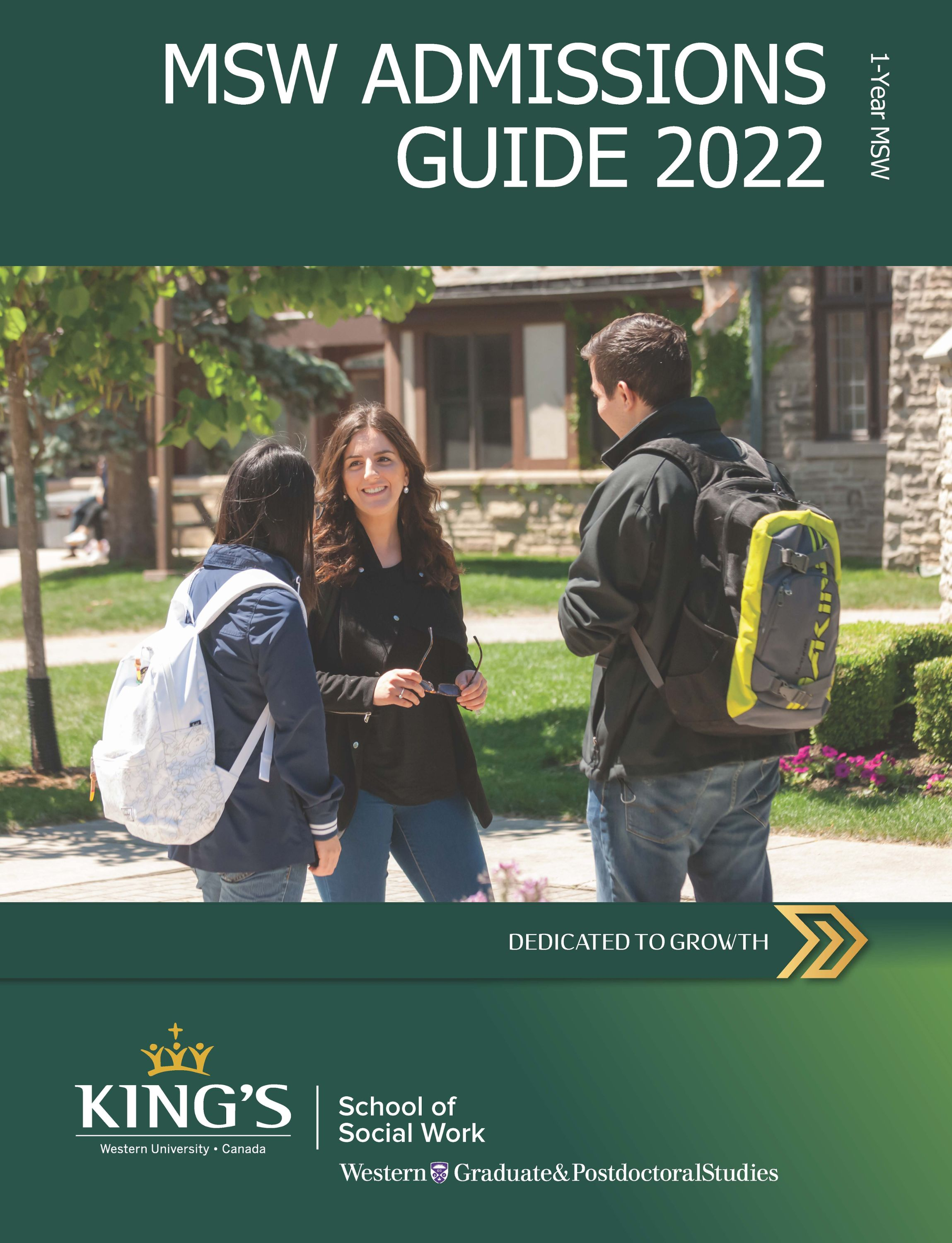 1-Year MSW Admissions Guide Download